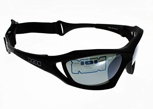 Demetz Lunettes de Soleil SQUEEL AQUA, sports extremes nautiques, polarisées Modele avec sangle élastique Homme Protection 100% UV 400 Indice 3