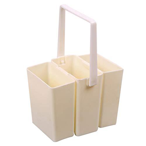 Artibetter Borstel Wasemmer Plastic Drievoudige Afneembare Penreiniger Vat Vierkant Aquarel Kunst Verf Opslag Emmer Container Voor Het Tekenen Van Olieverf