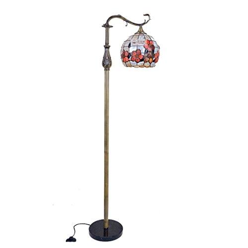 AJZXHE Stehlampe Europäische Wohnzimmer Muschel Stehlampe, reiche Blume Ball Stehlampe (Size : 12 inch (30cm))