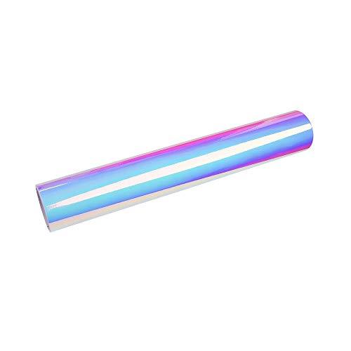 Holographic Chrome Vinyl Roll Permanent Adhesive Craft Vinyl 1x5ft Opal White