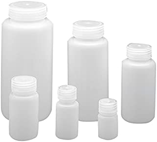 Qorpak 249627 Wide Mouth Lab Style Bottle with 63 mm PP Linerless Leak-Proof Cap, Integral Seal Ring Enclosed, HDPE, 1000 mL, Natural (Pack of 24)