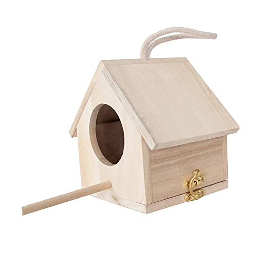 Amuzocity Cabina in Legno Giardino Patio Hanging Bird Cave Bird Hatch House Box