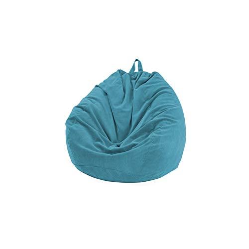 Amusingtao - Pouf imbottito per sedia (senza fagioli) per bambini e adulti. Morbido pouf imbottito in velluto a coste per organizzare giocattoli di peluche o memory foam