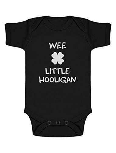 Green Turtle St Patrick Wee Little Hooligan Irish Funny Body Bébé Manche Courte 0-3 Mois Noir