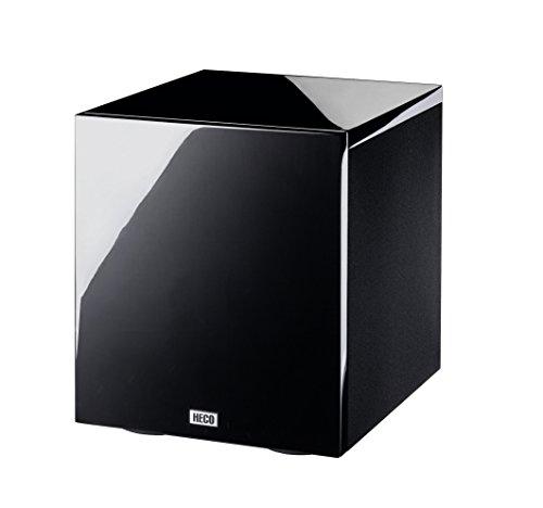 Heco New Phalanx 302 A, Aktiver Kompakt-Subwoofer mit Bassradiator, piano schwarz - 1 Stück