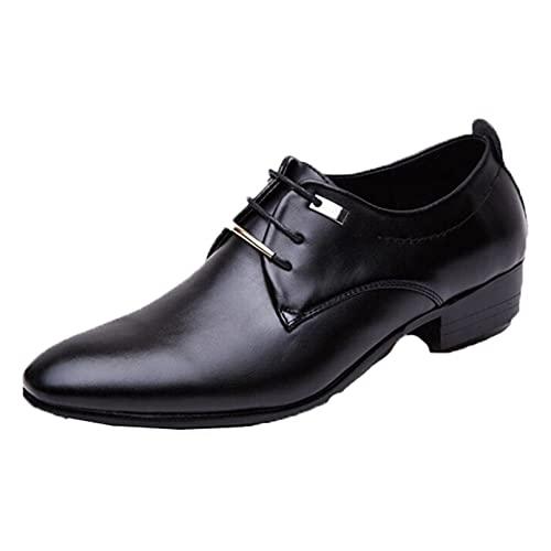 Zapatos de Vestir para Hombres Tacón Cubano Zapatos de Cuero con Cordones,...