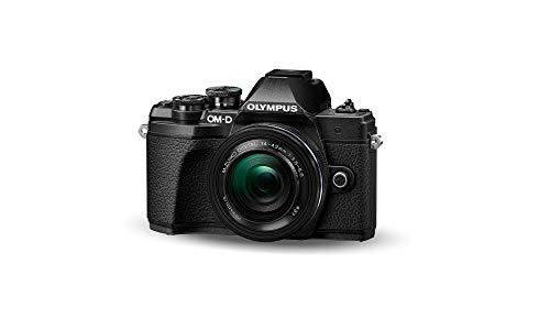 Olympus E-M10 Mark III Kit, Fotocamera di Sistema Micro Quattro Terzi (16 MP, Stabilizzatore d'Immagine a 5 Assi, Mirino Elettronico) e Obiettivo M.Zuiko 14-42mm EZ Pancake, Nero
