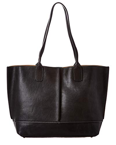 Frye Lucy Tote Black/Black Polished Full Grain One Size