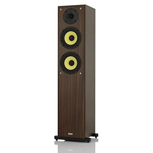 mohr 1 Stück SL20, Standlautsprecher, Lautsprecherboxen, wavecor Hochtöner, Tieftonmembran aus Polyamid, HiFi Standboxen, Nussbaum