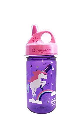 Nalgene Grip-n-Gulp Trinkflasche violett Einhorn 0,35 L