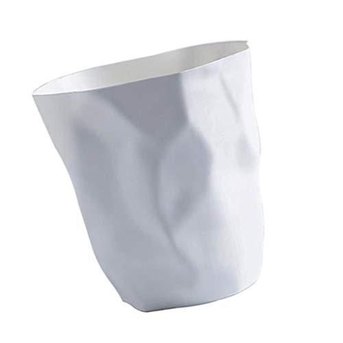 Fenteer Abfalleimer – Papierkorb für Büro, Badezimmer, Wohnzimmer - Weiß Groß