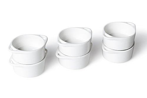 Ciotoline per salse, set da 6 pezzi, Porcellana, 8 x 6 x 3cm