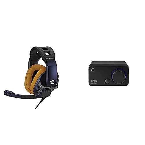 EPOS I Sennheiser GSP 602 Professionelles Gaming- Headset (mit passiver Geräuschunterdrückung) + Sennheiser GSX 300, Gaming Dac/Externe USB-Soundkarte mit 7.1 Surround Sound