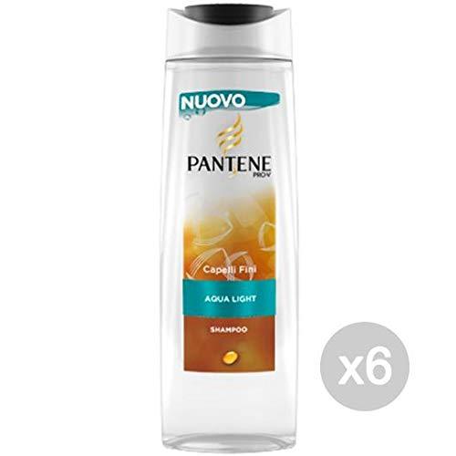 Pantene Set 6 Shampoo Trad Aqua Light Fini Nutriti 250 Cura E Trattamento dei Capelli, Multicolore, Unica