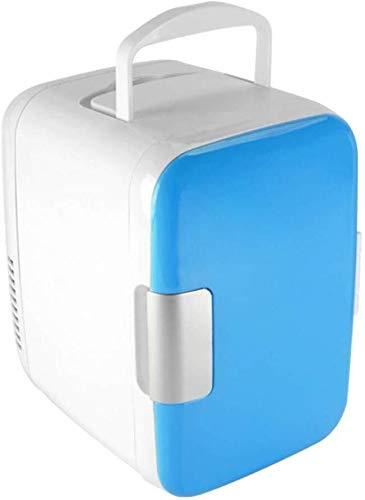 ZHENYUE Tragbare ini Frige Gefrierschrank Kühlbox EIN Warer 6 Dosen Quiet ini Kühlschrank Copact Energy Star Auto oder Roo Büro-blau 4L (Color : Blue, Size : 4L)
