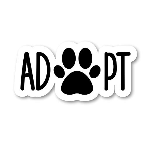 Adopt Dog Paws Sticker Dog Collection Stickers - Laptop Stickers - 2.5' Vinyl Decal - Laptop, Phone, Tablet Vinyl Decal Sticker S4243