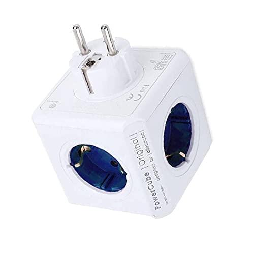 Nicedier Power Strip Cubo Multi Socket Adaptador del Recorrido de extensión de 4 sockets 2 Puertos USB para Herramientas Inicio Tabla de la Oficina Azul del Ordenador
