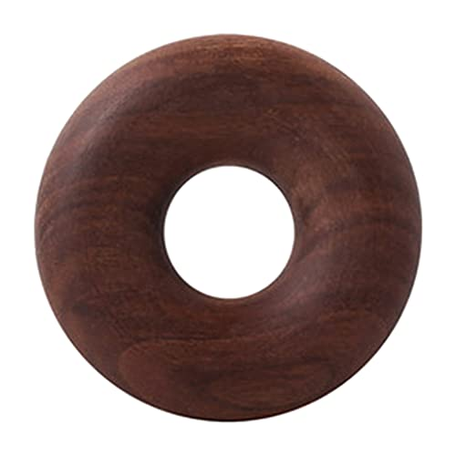 MagiDeal Kreative Massivholz-Donuts Holz-Dichtungsbeutel-Clips Süße Snack-Clips Tee-Dichtungsstreifen Feuchtigkeitsbeständig Halten Sie Ihre Lebensmittel - Walnuss L