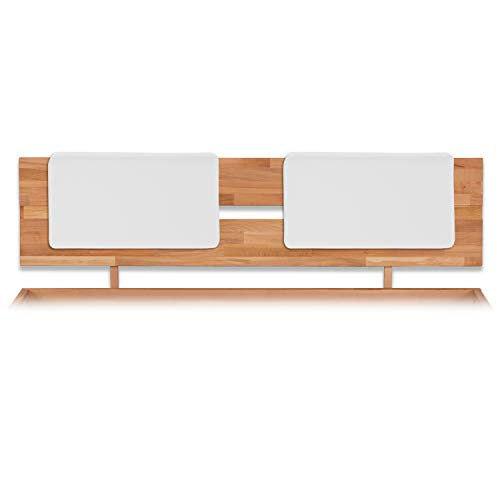 Bubema Polster-Steckkissen für Bettkopfteil, 2er-Set,für viele gängige Betten, 7 versch. Farben Farbe Weiß