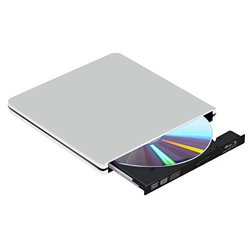 BLU Ray 3D Grabador de Unidad de DVD Externo, USB 3.0 Grabadora DVD Reproductor BLU-Ray Externo, Portatil Reproductor de CD DVD Disco para Windows 10/7/8/Vista/XP/Mac OS