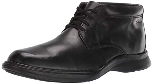 Clarks Men's Kempton Mid Ankle Boot, Black Leather, 80 M US
