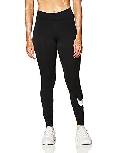 NIKE CZ8530-010 W NSW ESSNTL LGGNG Swoosh MR Leggings Womens Black/(White) M