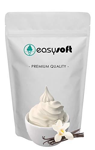 Mezclar en polvo, muy fácil de preparar, tan solo añade leche y listo! Base mix para helado soft de VAINILLA (1kg mix + 4 lt leche) Ingredientes 100% naturales SIN TRANS FAT (sin grasas hidrogenadas) SIN OGM (producto no modificado genéticamente)