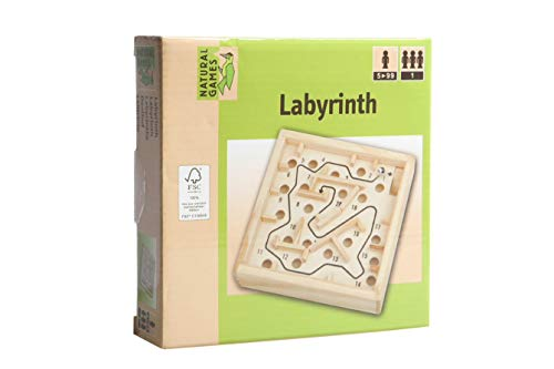 Natural Games Holz Labyrinth, 12 x 12 cm