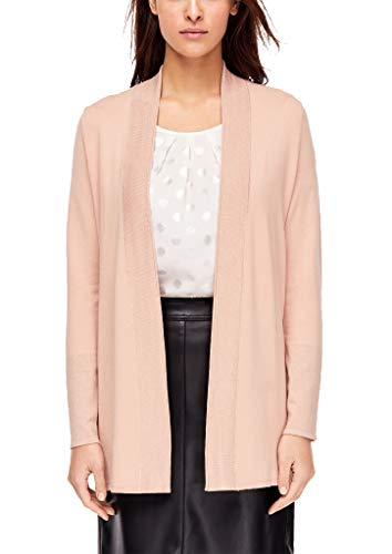 s.Oliver BLACK LABEL Damen Cardigan mit RIPP-Detail Blush 40