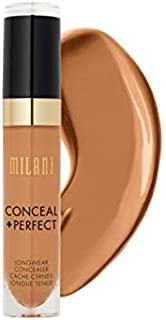 Milani Conceal + Perfect Longwear Concealer - Cool Sand (0.17 Fl. Oz.) Vegan, Cruelty-Free Liquid Concealer - Cover Dark Circles, Blemishes & Skin Imperfections for Long-Lasting Wear