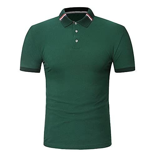 Camisa Polo Hombre Verano Regular Fit Manga Corta Shirt Hombre Montañismo Golf Deporte Camisa Hombre Trabajo Casual Clásica Camiseta Hombre Estilo Urbano Moderno Tops Hombre