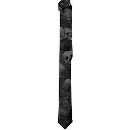 Sherly Yard Corbata de Hombre Corbata clásica Negra con Cabeza de Calavera Corbata de Negocios de Moda Novedad