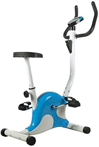 Attrezzatura per il fitness per cyclette da interno con regolazione della resistenza infinita e comodo allenatore per cyclette verticale con sedile comodo per