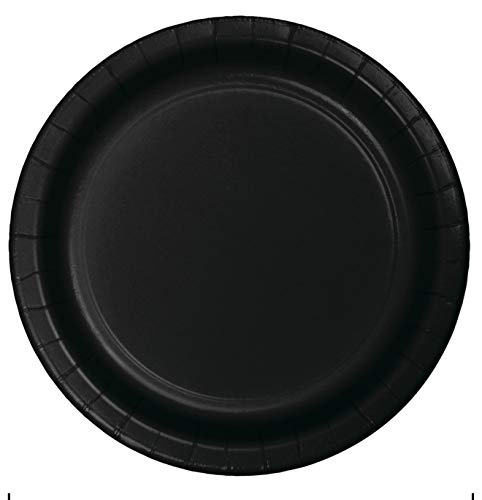 Creative Converting 96 Count Celebrations Paper Dinner Plates, 9', Black Velvet - 324233