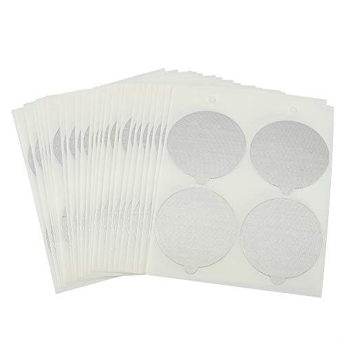 Duokon Verwijderbare aluminium afdichtingen Stickers op het deksel voor voedsel geneeskunde Make-up Caspules oplaadbare Pods Filters Hittebestendige zelfklevende caps (200PCS)