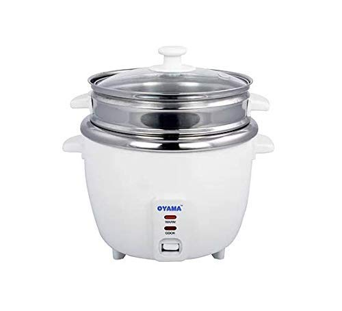 OYAMA Stainless 16-Cup (Cooked) (8-Cup UNCOOKED) Rice Cooker, Stainless Steel Inner Pot, Stainless Steamer Tray (CNS-A15U) (Renewed)