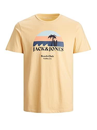 JACK&JONES ORIGINALS JORCABANA T-shirt SS Crew à col rond Jaune Taille M