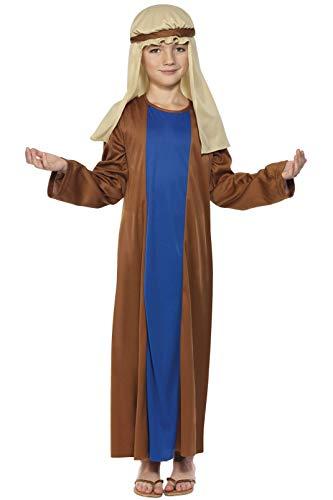 Smiffys-31287S Disfraz de José, con túnica y Adorno para la Cabeza, Color marrón, S-Edad 4-6 años (Smiffy'S 31287S)