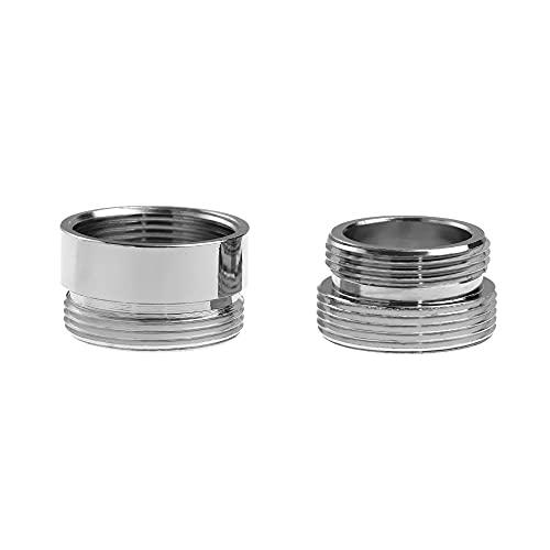 VVW&LIU Conector de aireador de Grifo Adaptador de Ahorro de Agua de Rosca Exterior Interior para Grifo de Cocina 16/18/20/22/24/28 / mm a 22 mm con Junta, Interior 18 mm, 22 mm