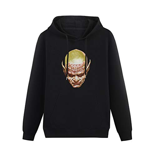 Fashion Kreator Face Logo Cotton Hoodies Pullover Sweatshirs HeavyweightHooded Black M