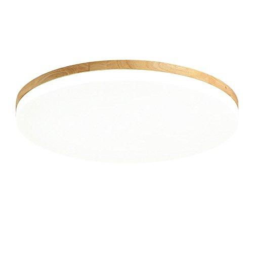 Deckenleuchte Ultradünne moderne Deckenleuchte Minimalistische runde LED-Dicke 5 cm Deckenleuchte aus Holz Einfache Tatami-Lampe im japanischen Stil Wohnzimmer Schlafzimmer Esszimmer Arbeitszimmer Balkonbeleuchtung