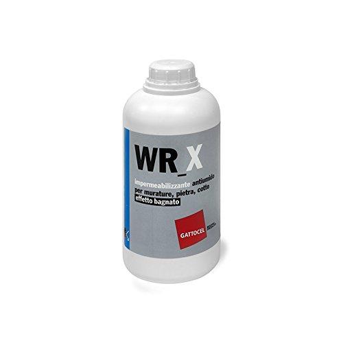 GATTOCEL WR_X. Impermeabilizzante antiumido per murature,pietra,cotto effetto bagnato. LT 1
