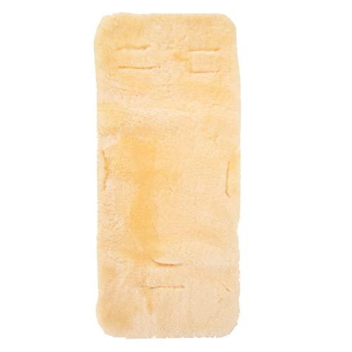 Merauno® Cojín de piel de cordero para cochecito de bebé, asiento para cochecito, silla de paseo, cama infantil, piel natural, médica, piel de cordero curtida, 80 x 35 cm, lavable (medicina)