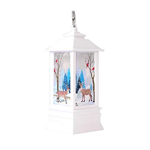 Supefriendly Luz de llama de Navidad LED luz de alce / nieve/Papá Noel patrón decoración del hogar para interiores al aire libre, decoraciones de boda, fiesta, dormitorio