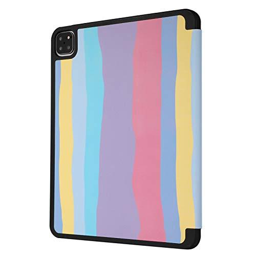 Funda para iPad Pro 12.9 4th Generation 2020/3rd Gen 2018, Folio Smart Stand Cover con portalápices, Auto Sleep/Wake para iPad Pro 12.9 Inch (Color : B)