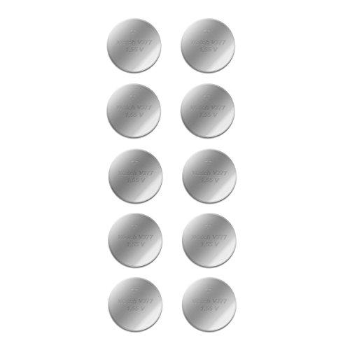 Akku-King Knopfzelle SR626SW, LR626, AG4, SR 626 W, SG4-14mAh, 1,5 Volt - Batterien 10 STK. - einzelne Blister