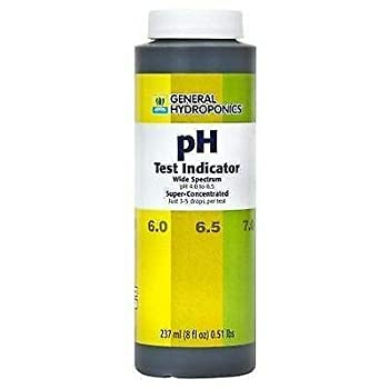 General Hydroponics pH Test Indicator 8 oz Ounces - up Down Wide Spectrum