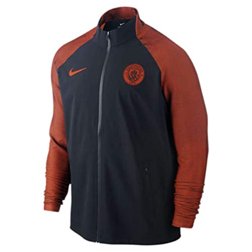 NIKE Manchester City F.C. M Strke TRK Jkt W Chaqueta, Hombre, Negro (Negro/Team Orange/Team Orange), XL