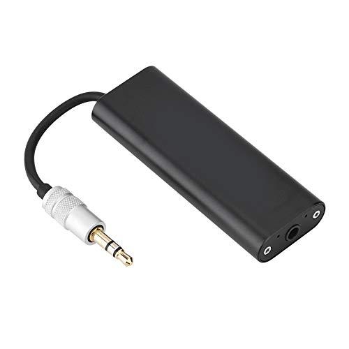 Alinory Amplificador de teléfono, Delicado Amplificador estéreo portátil de Alta fidelidad Negro de 3,5 mm, para teléfono móvil, Altavoces Exteriores, Audio para automóvil