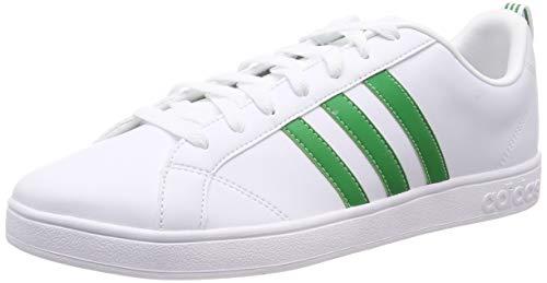 Adidas VS Advantage D97609, Tenis para Hombre, Color Blanco / Franjas Verdes, Talla 5.5 MEX